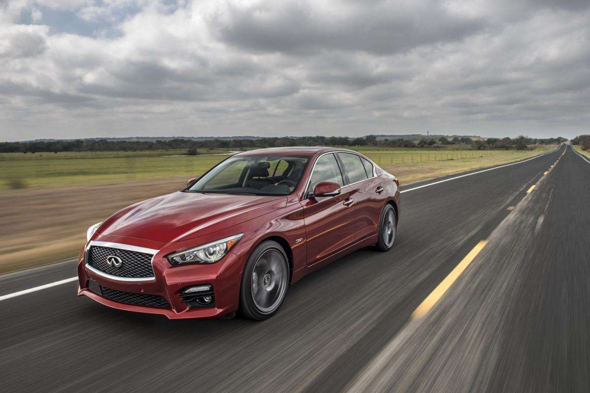 Infiniti Q50 Red Sport from the perspective of a BMW 3 Series owner