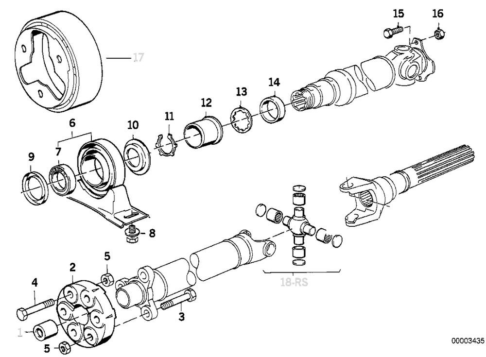 diy  driveshaft flex disc  u0026 center support bearing  e34 520i  525i  - bimmerfest