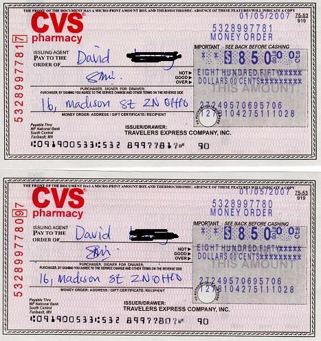 Cvs Job Application: Cvs Pharmacy Money Orders