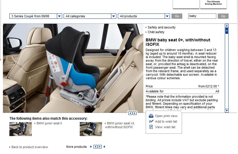 BMW Infant/Child Seats - Bimmerfest - BMW Forums