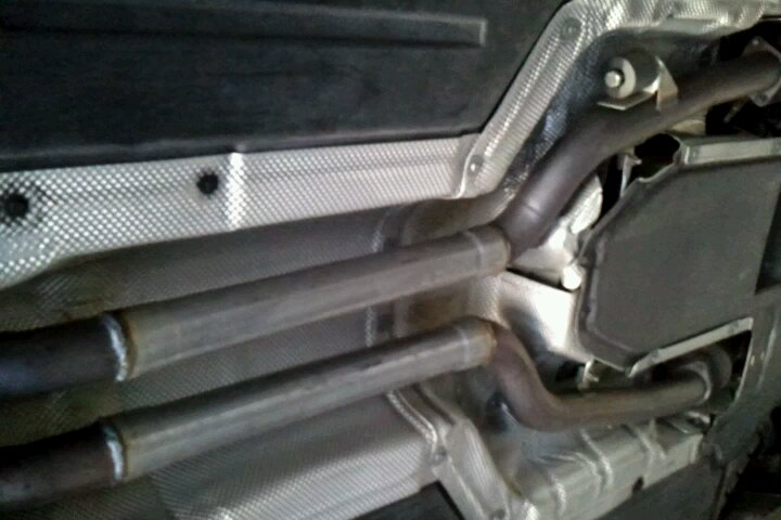 BMW 645i Cut up my stock mufflers, can anybody help me