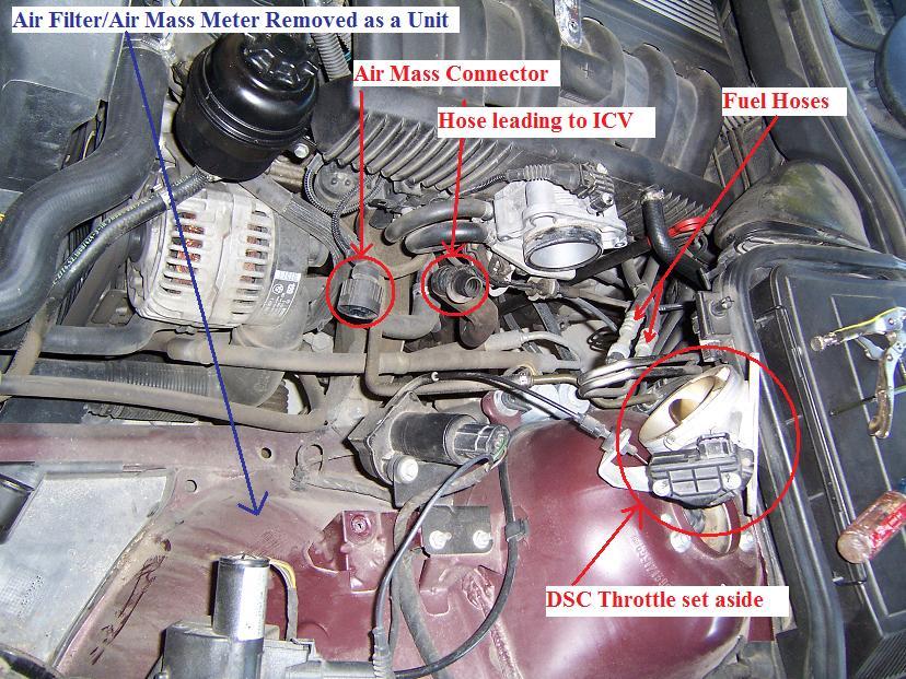Oil Line Gt Vanos Ccv Icv And Alternator Air Duct E39