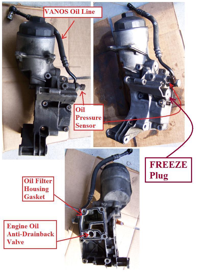 Oil Filter Housing Freeze Plug Leak Bimmerfest Bmw Forums