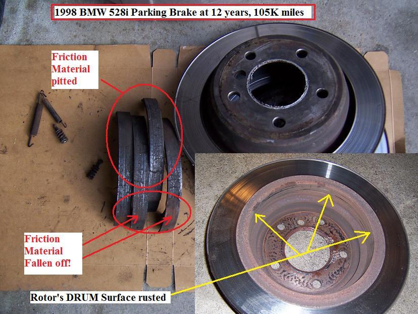 1998 Bmw 528i Parking Brake Overhaul