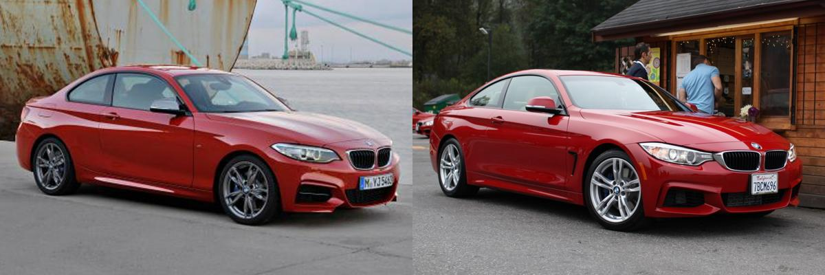 photo comparison 2 series coupe vs 4 series coupe bmw news at. Black Bedroom Furniture Sets. Home Design Ideas