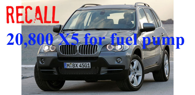BMW Recalling 20,800 MY 2008 X5 Sports Activity Vehicles