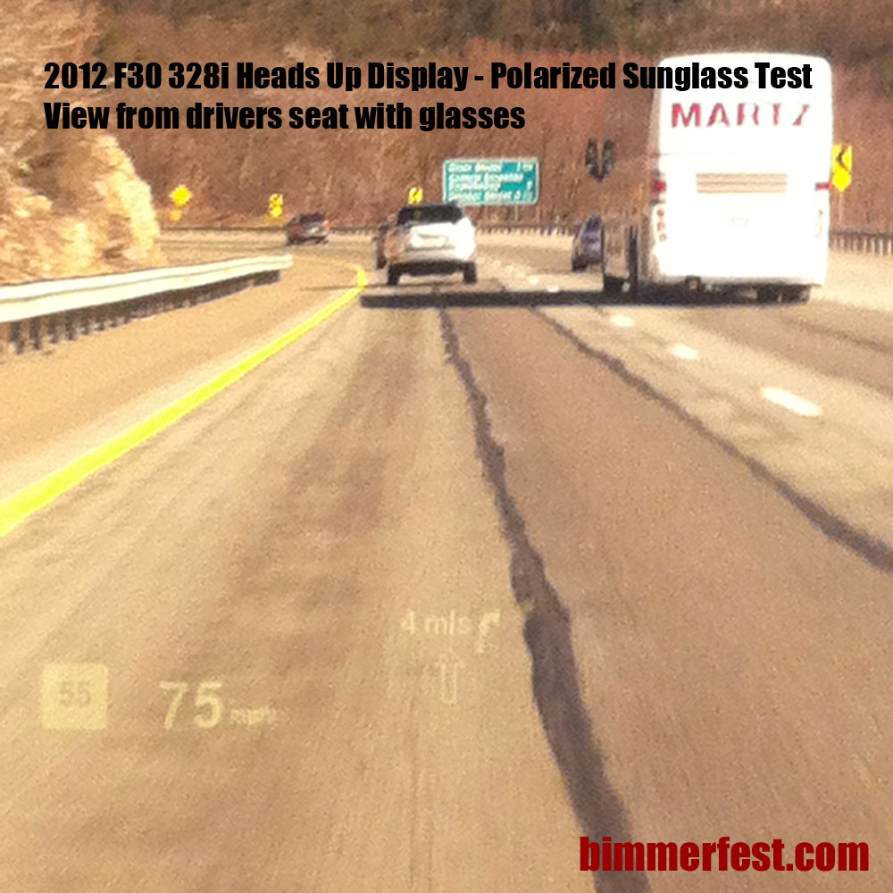 f30 hud with polarized sunglasses review bimmerfest