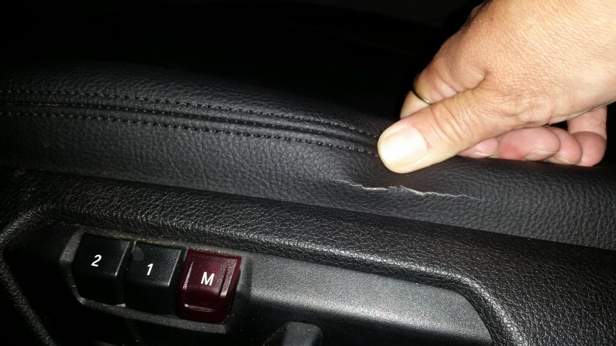 Brand New Driver Seat Is Cracked After Being 10 Months Of Use Bimmerfest Bmw Forums