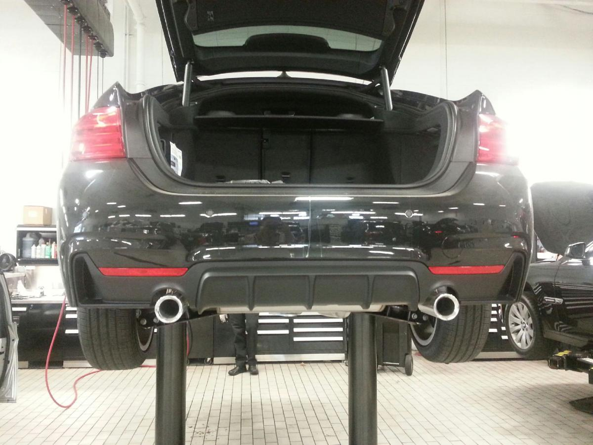 Click Image For Larger Version Name 2015 BMW 435i GC Rear Diffuser Install 7
