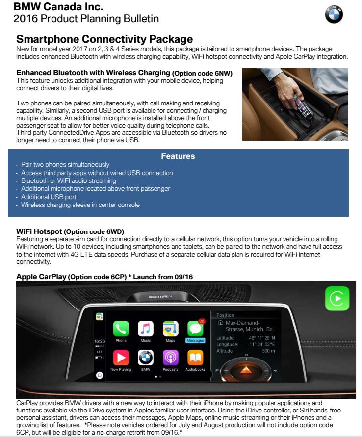 2017 US will get idrive 5 & carplay? - Bimmerfest - BMW Forums
