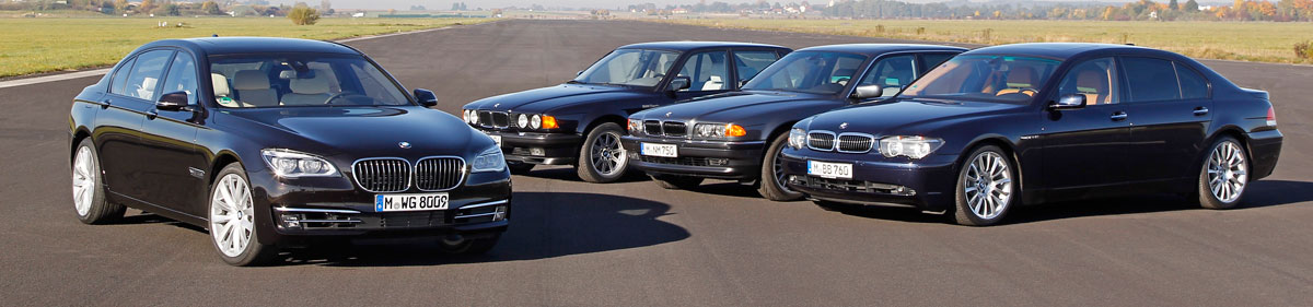 25 years of BMW v12 7 series