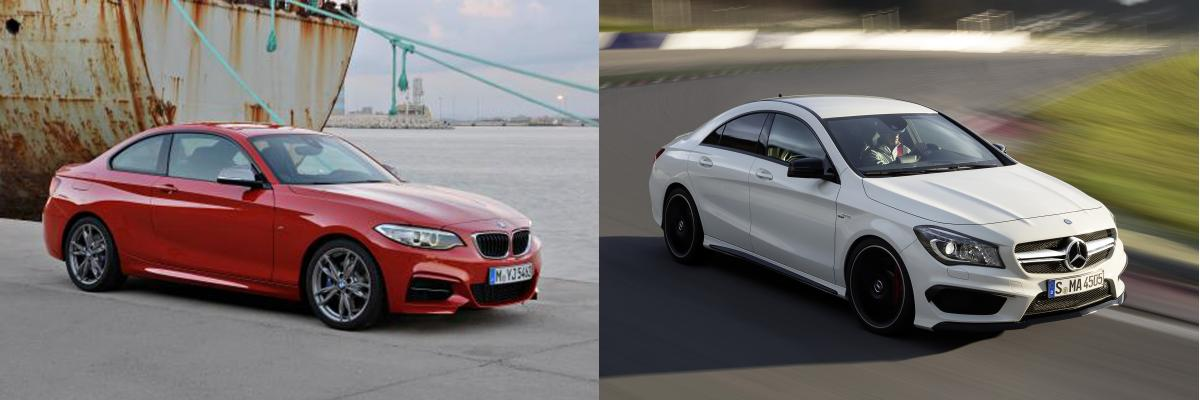 photo comparison: bmw 2 series vs. mercedes cla sedan - bimmerfest