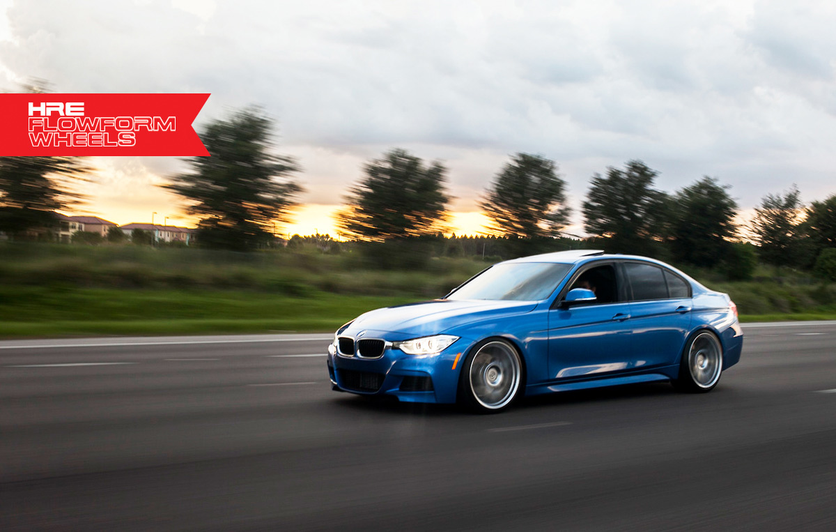 Estoril Blue F30 335i on HRE FlowForm Wheels BMW News at ...