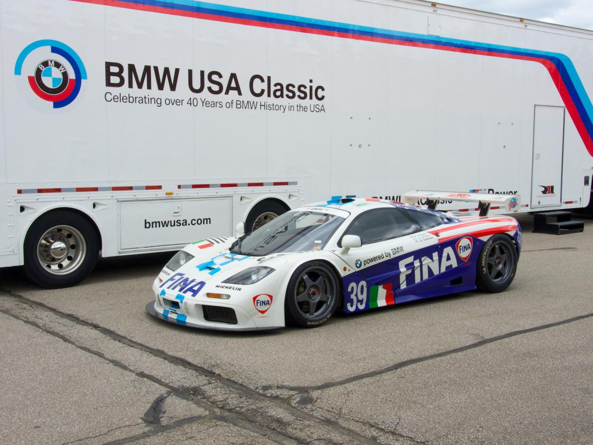 bmw powered McLaren F1 GTR Monterey Reunion