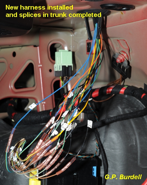 e39 electrical problems traced to trunk lid harness wire chafing bmw could make this repair a lot easier and more convenient if they would produce and sell an affordable replacement harness like they did for the e36