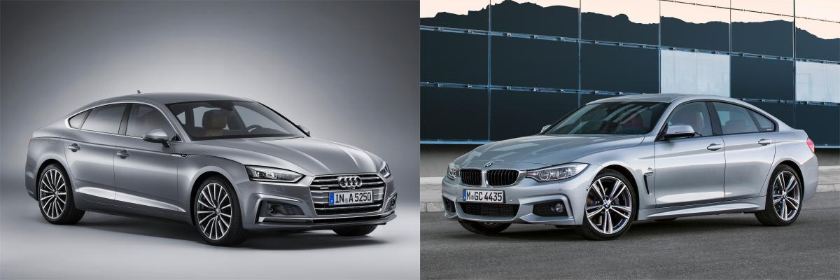 side by side bmw 4 series gran coupe vs audi a5 s5. Black Bedroom Furniture Sets. Home Design Ideas