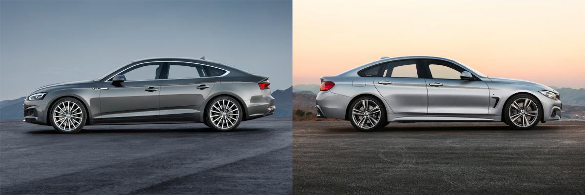 Side by side BMW 4 Series Gran Coupe vs Audi A5S5 Sportback BMW