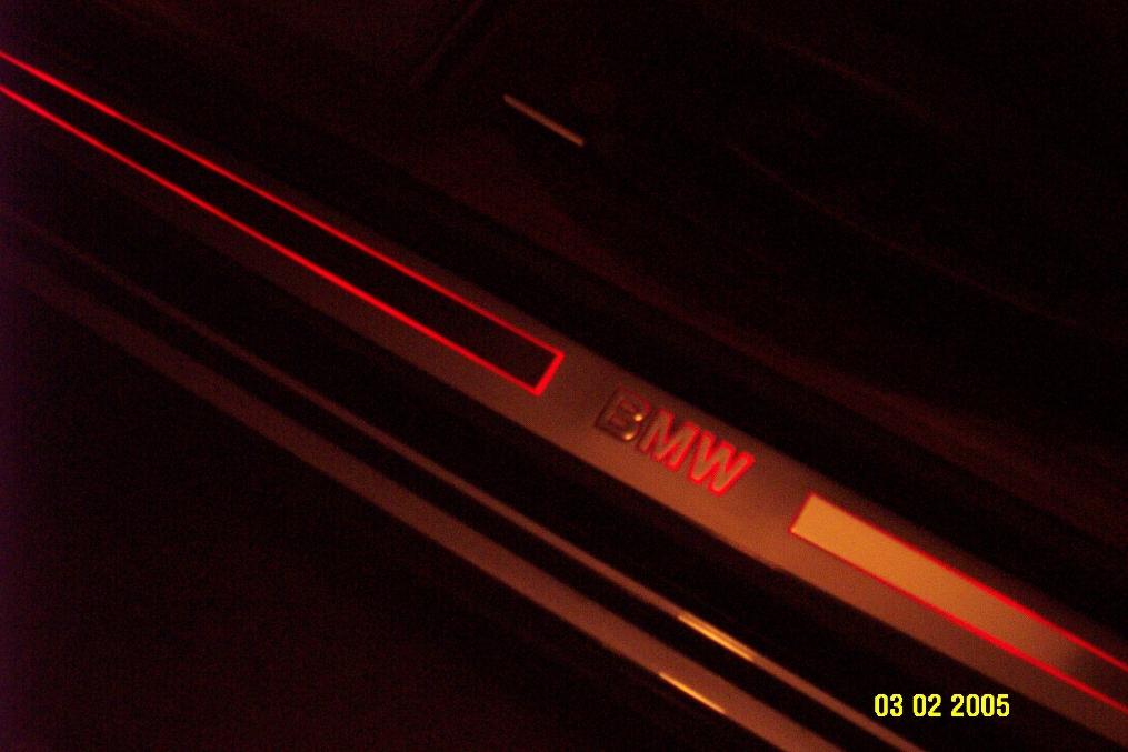 illuminated door sill light - bimmerfest - bmw forums