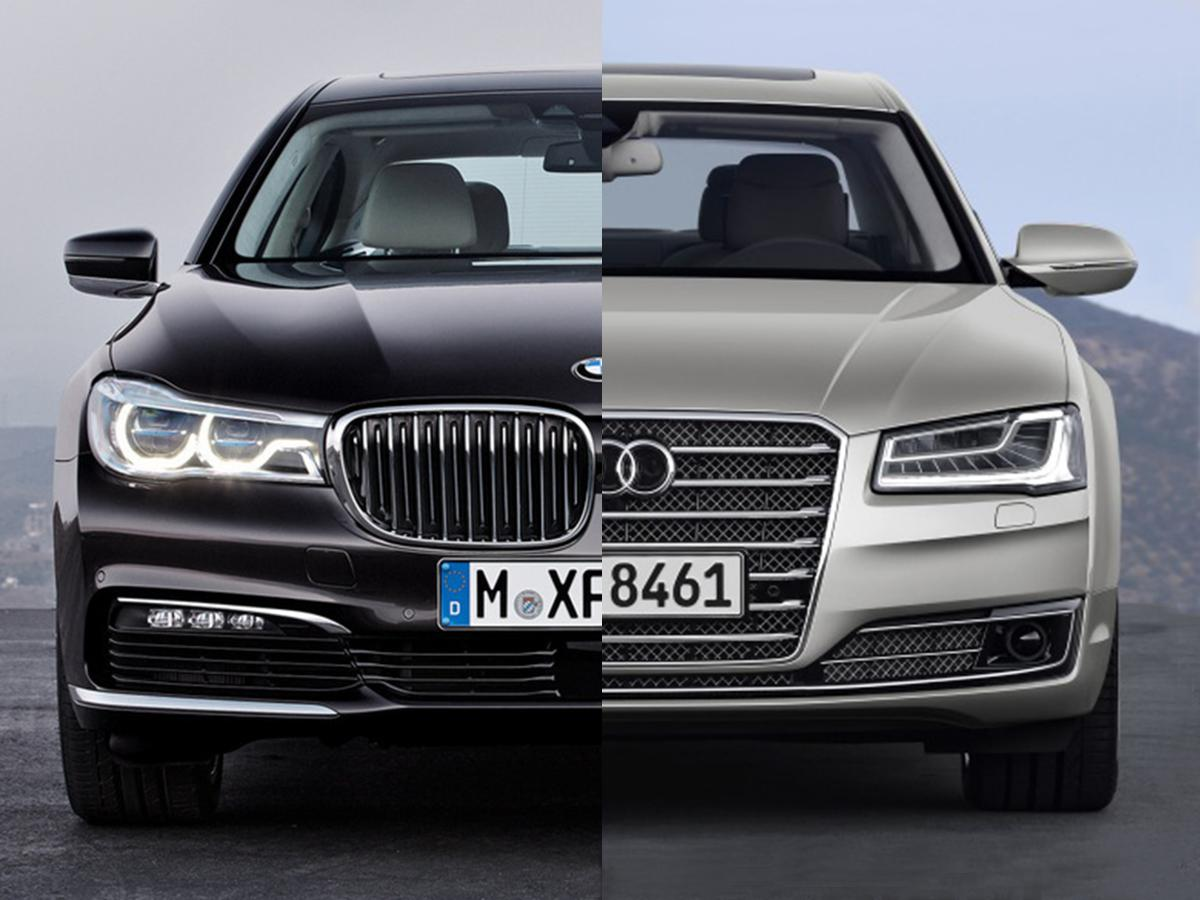 photo comparison bmw 39 s new 7 series vs audi 39 s new a8 bmw news at. Black Bedroom Furniture Sets. Home Design Ideas