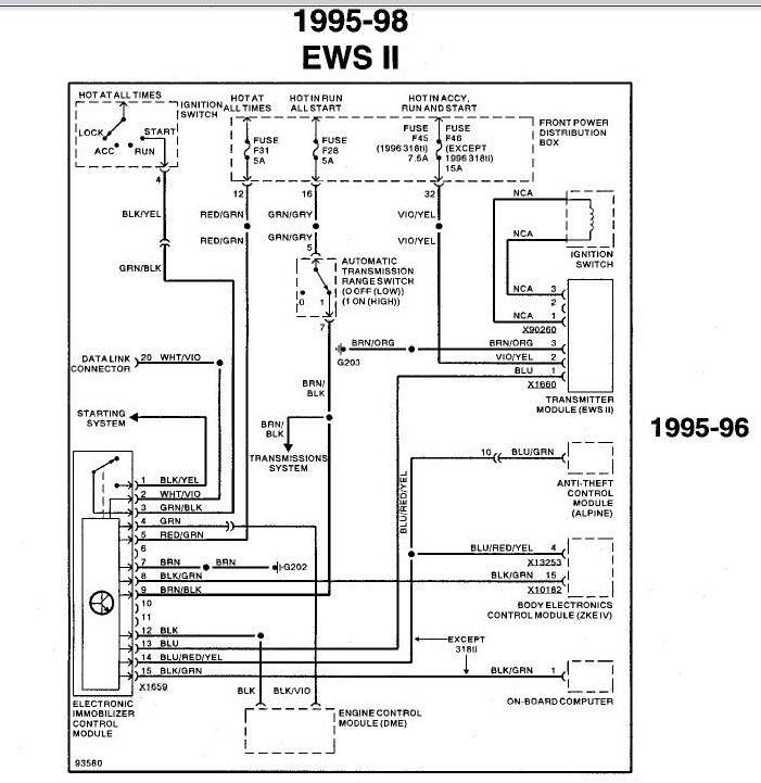 Bmw    E36    Ews    Wiring       Diagram        Wiring       Diagram