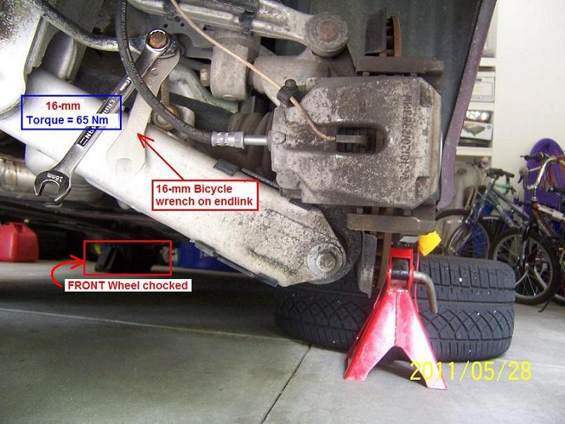 For BMW E38 E39 5-Series Set of Rear Lower Guide Rods Febi 33326768791