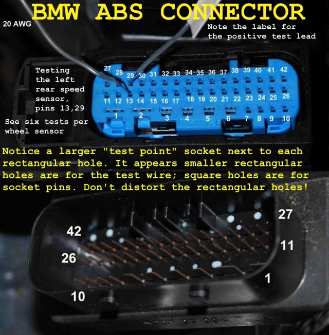 2002 E39 ASC BRAKE ABS lights on => Diagnostic Procedure & Parts