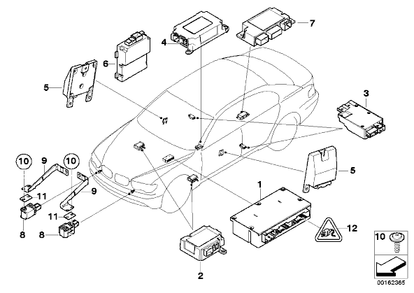 wheres the main airbag module on a 06 750li