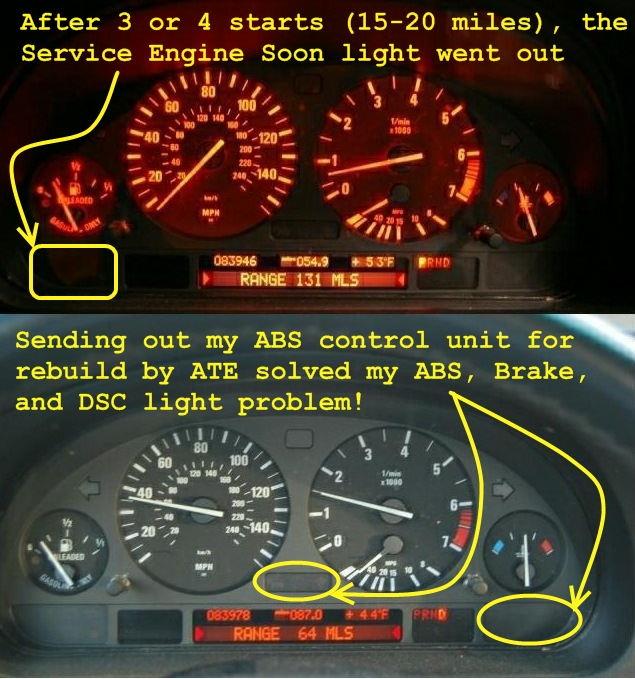 2002 E39 Asc Brake Abs Lights On Gt Diagnostic Procedure