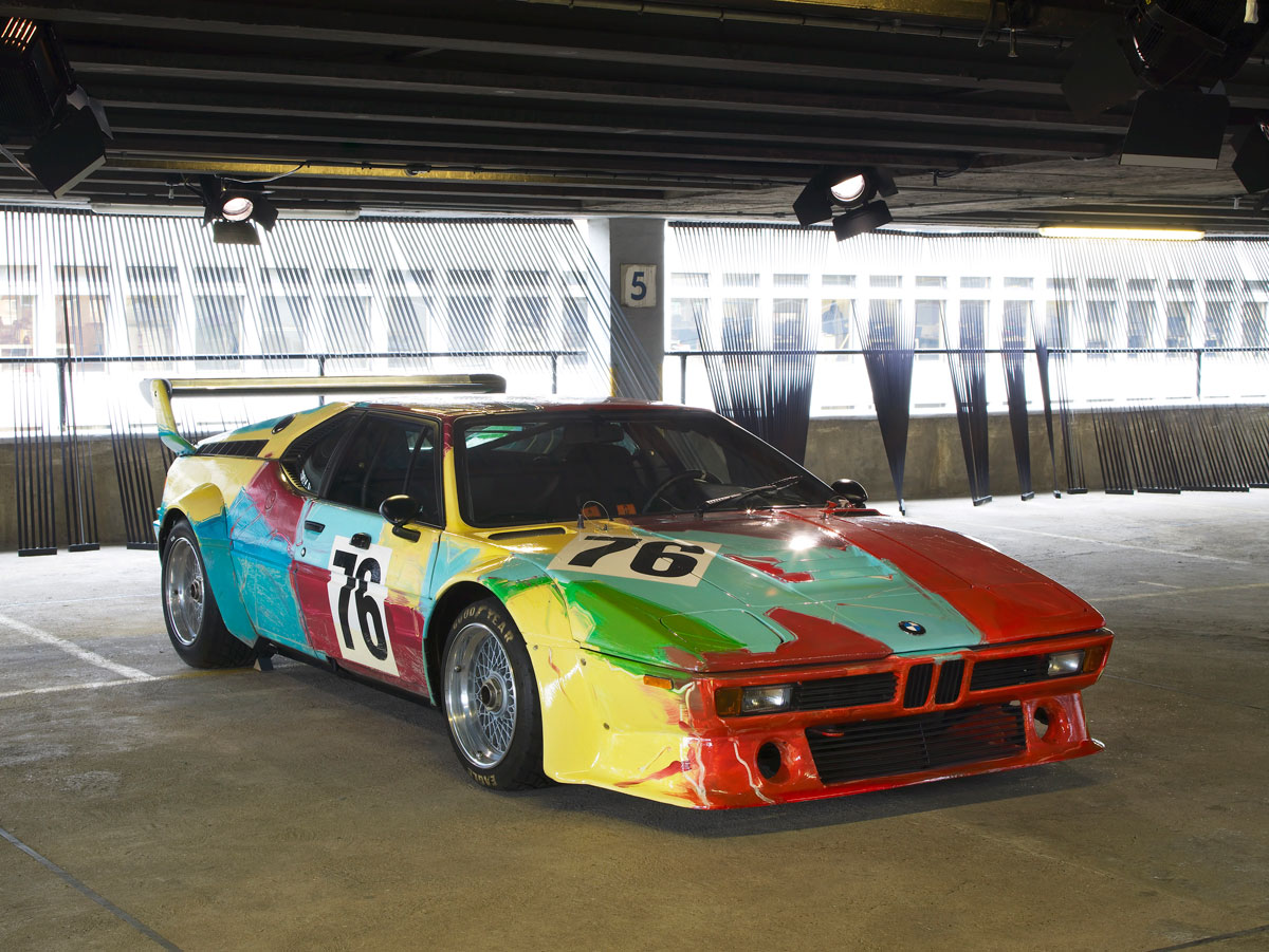 Andy Warhol BMW Art Car at the inaugural Los Angeles Fair