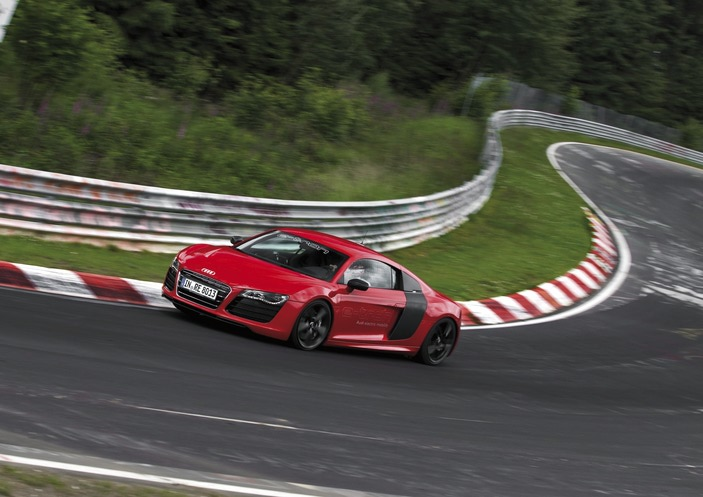 Nürburgring World record for the Audi R8 e-tron - 8:09.099 Minutes