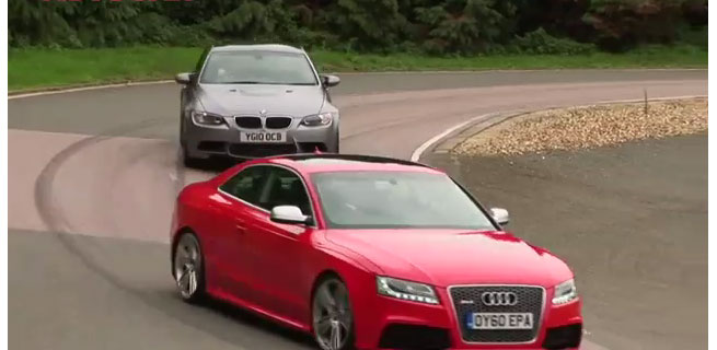 BMW M3 vs. Audi RS5 - AutoCar Video