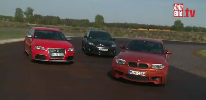 Another VIDEO - BMW 1M vs Audi RS3 VS Ford Focus RS 500