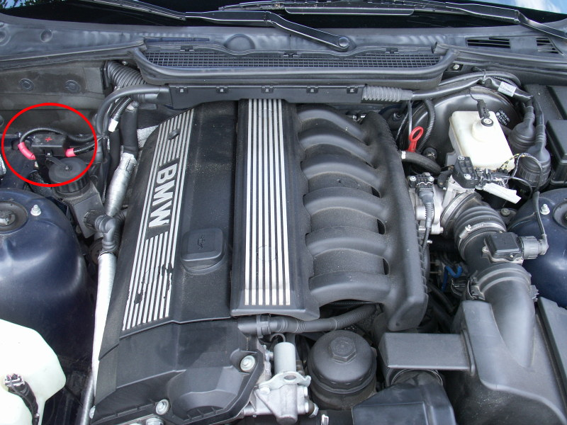 bmw battery location under hood on  bmw  free engine image