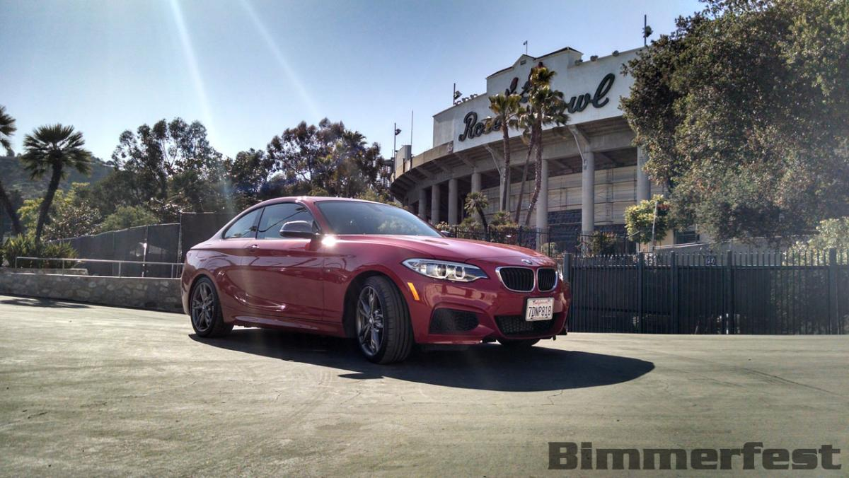 Bimmerfest 2014 sponsored by ESS Tuning - M235i Starts it off at the Rose Bowl