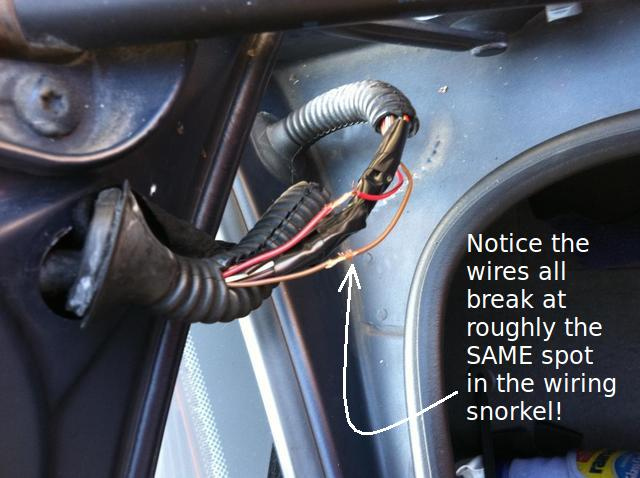 7 wire trailer harness trouble wiring trunk wire bmw harness harness wiring e39 electrical problems traced to trunk lid harness wire ...