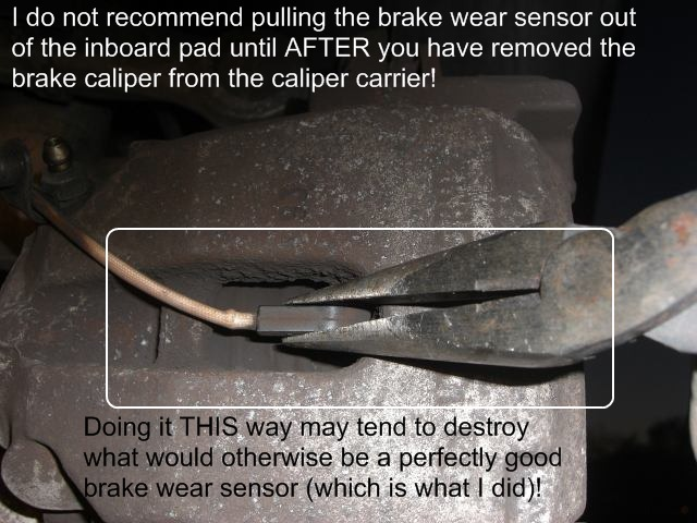 San Jose BMW >> ABS light, TCS, lights. Does the brake pad wear indicator have any effect? - Bimmerfest - BMW Forums