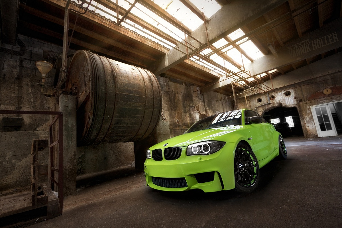Custom green painted BMW 1M