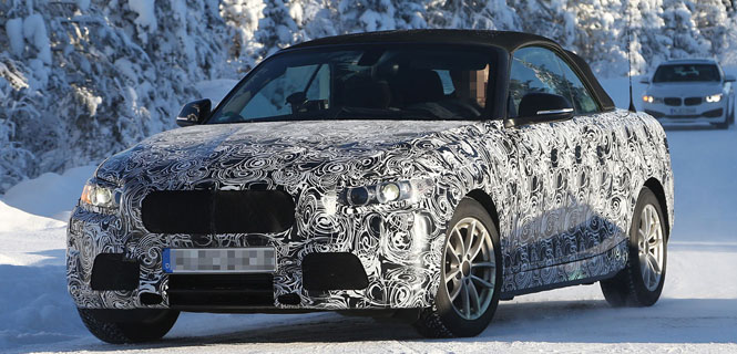 Spied: 2 Series Convertible Caught Winter Testing Again