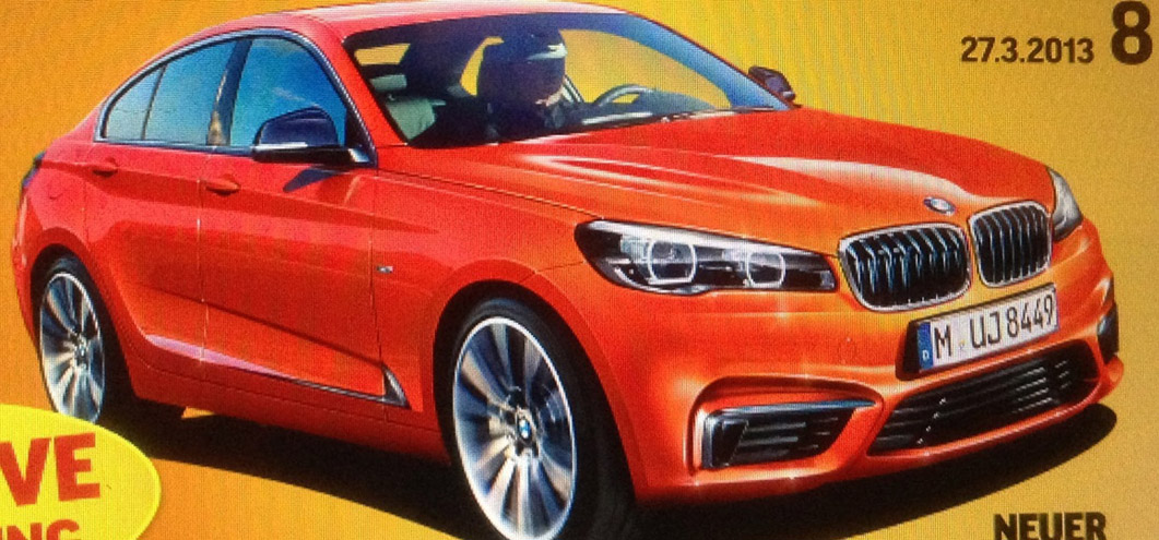 BMW 2 series gran coupe rendering