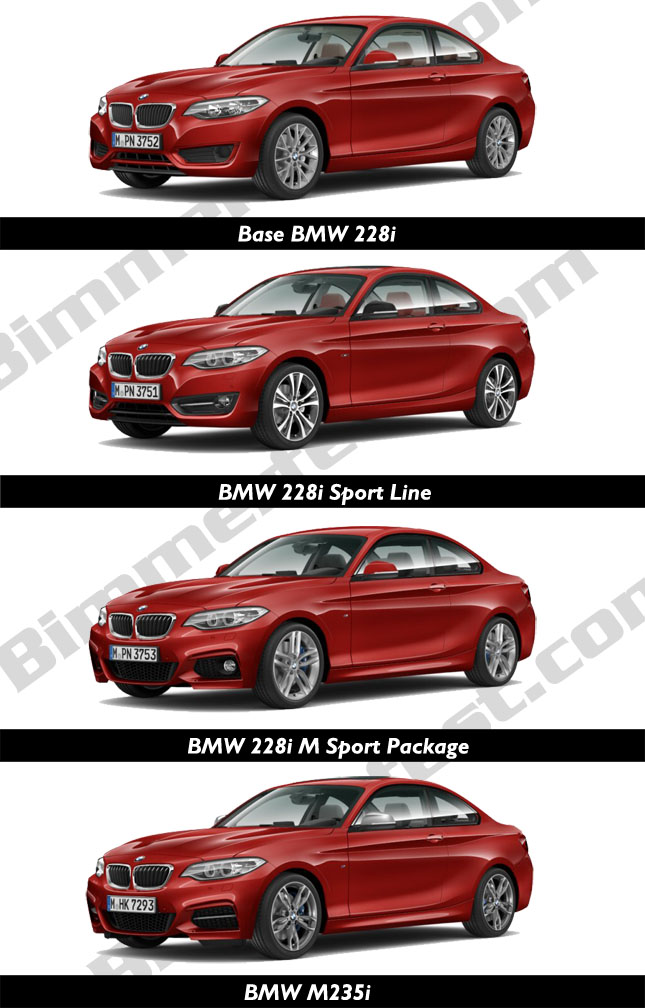 Comparing the 2 Series Front Design
