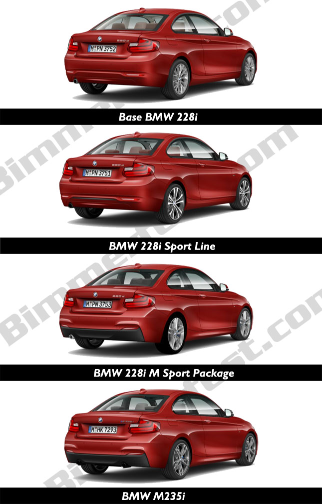 Comparing the 2 Series Rear Design
