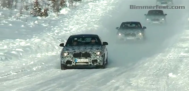 Spy Video: BMW 2 Series Coupe and Convertible Play in the Snow