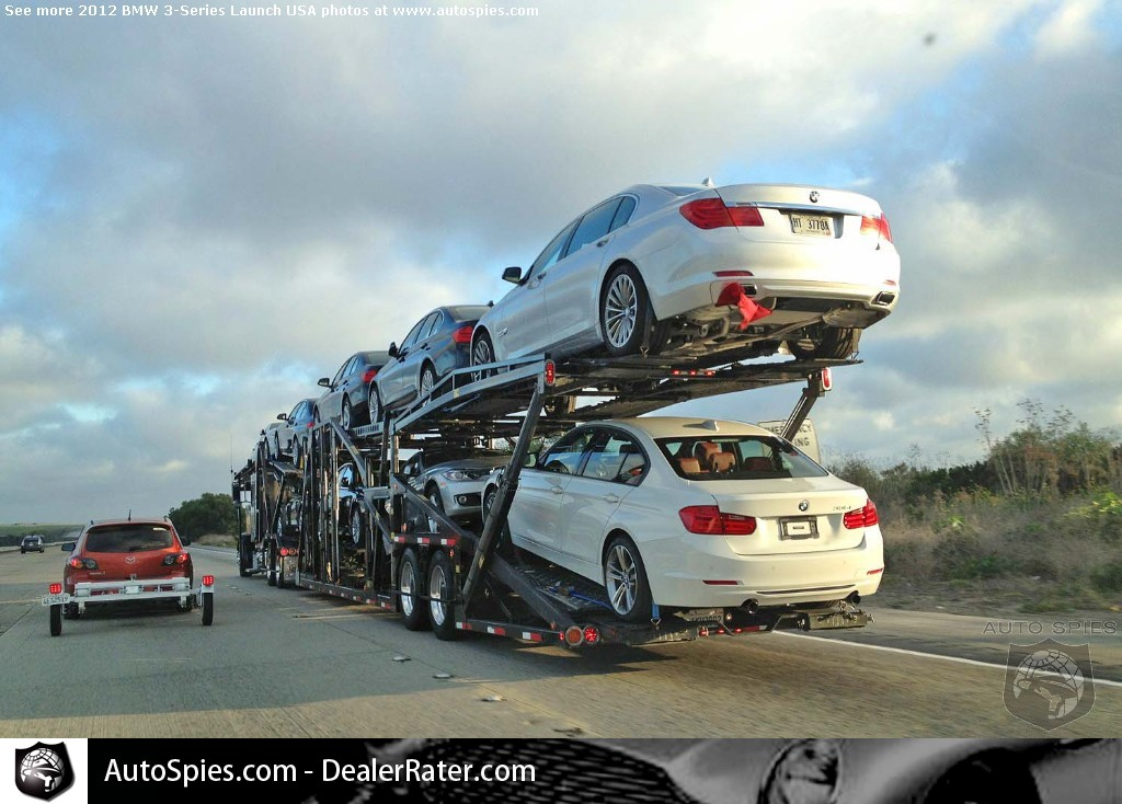 BMW F30 dealership demo cars on their way to a dealer near you