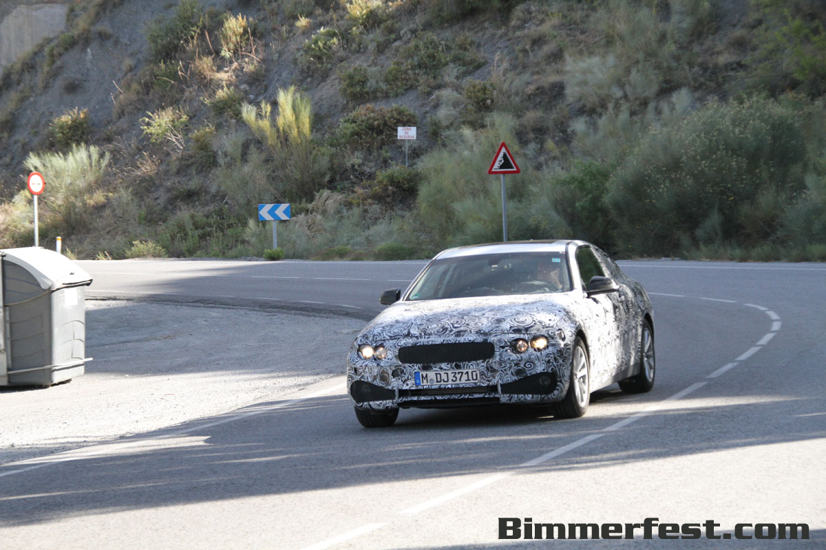 BMW 4 series coupe 440 spied testing