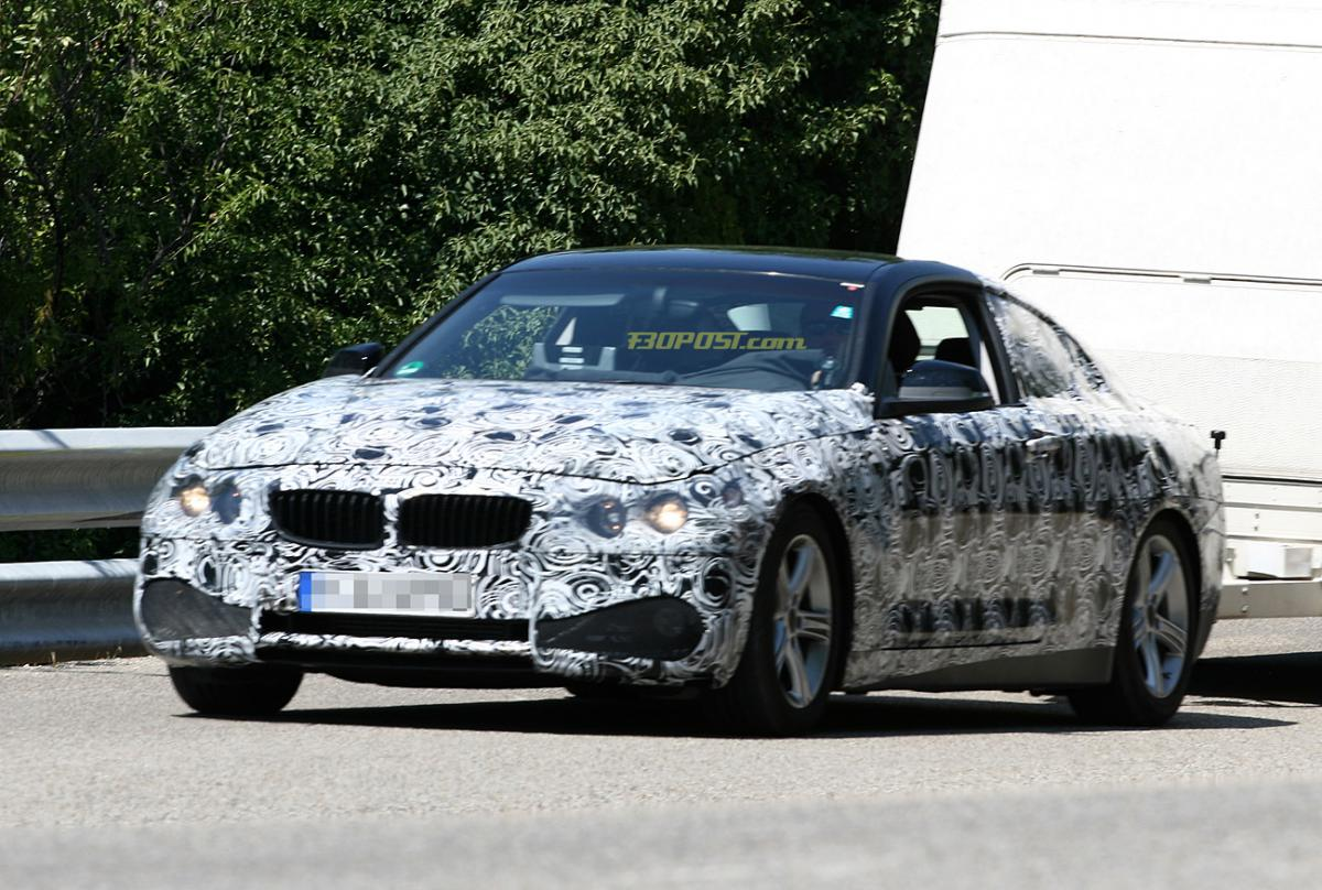 BMW 4 series coupe front grills spied
