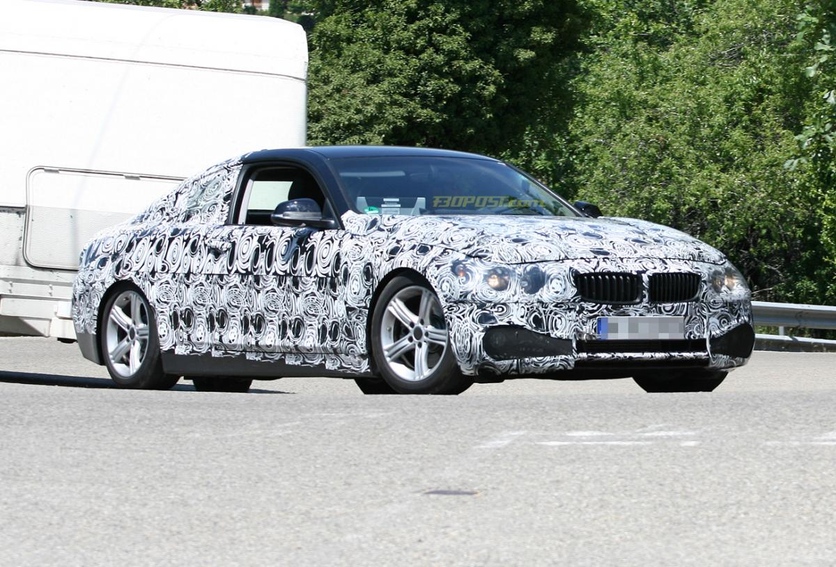 BMW 4 series coupe exposed