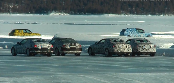 4 Series Coupe and Convertible Spied Testing and Drifting on Ice and Snow