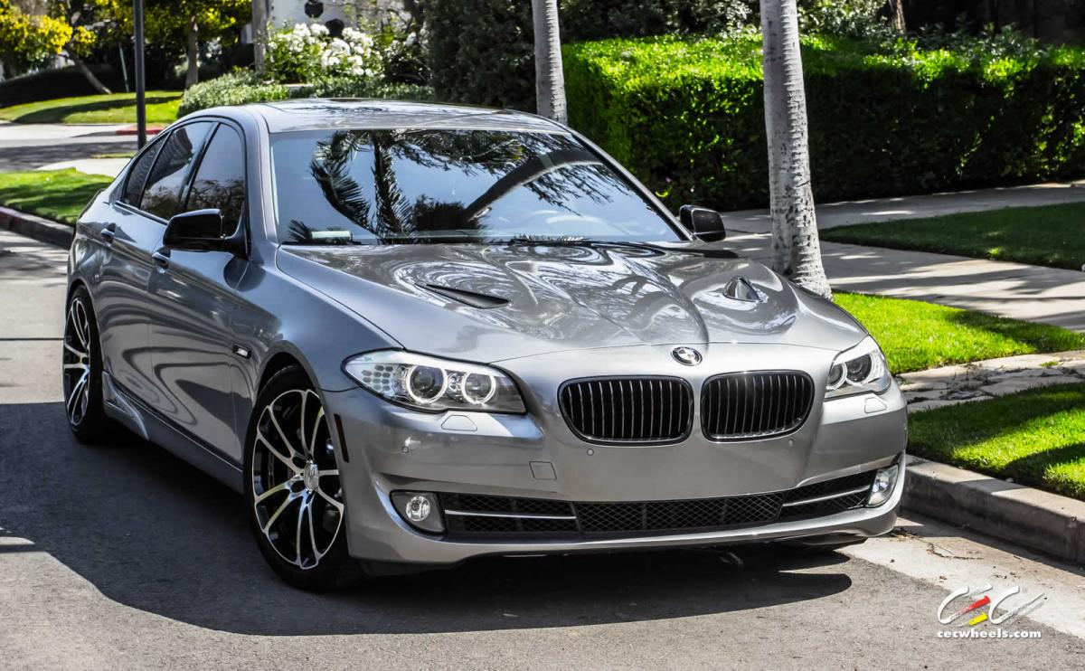 bmw 5 series on 20 inch cec c882 wheels in machined gloss. Black Bedroom Furniture Sets. Home Design Ideas
