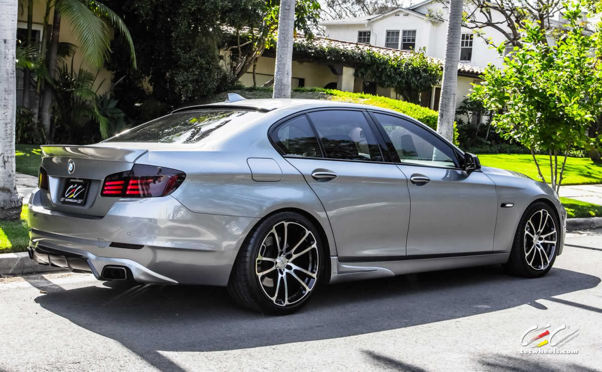 F10 535i on 20 CEC c882 in machined gloss black finish