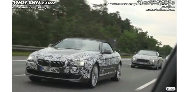 New BMW 6-series prototype Coupe and Convertible F13 chased on Autobahn